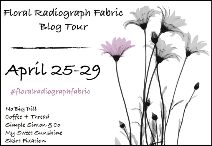 Floral Radiograph Fabric Blog Tour-Skirt Fixation
